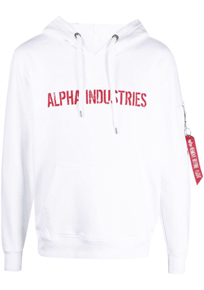 Alpha Industries Remove Before Flight hoodie - White