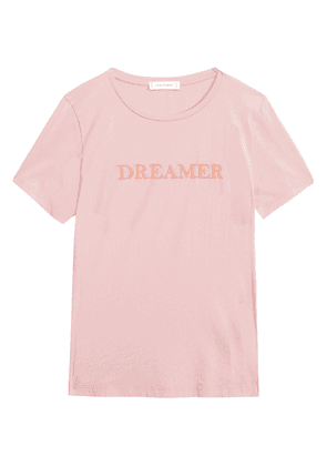 Chinti & Parker Embroidered Cotton-jersey T-shirt Woman Pink Size S