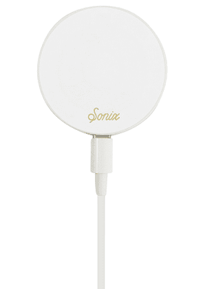 Sonix Magnetic Link Wireless Charger in White.
