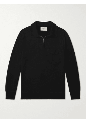 BELLEROSE - Fadi Half-Zip Cotton-Jersey Sweatshirt - Men - Black - S