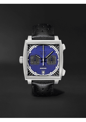 Bamford Watch Department - TAG Heuer Monaco Automatic Chronograph 39mm Stainless Steel and Leather Watch, Ref. No. BWDMC2 - Men - Blue