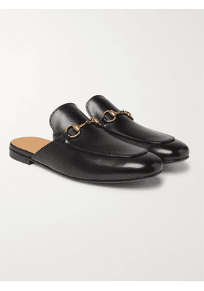 GUCCI - Horsebit Leather Backless Loafers - Men - Black