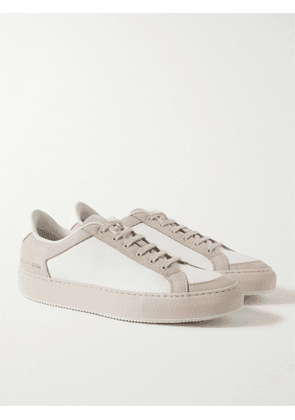 Common Projects - Retro '70s Nubuck-Trimmed Perforated Leather Sneakers - Men - White