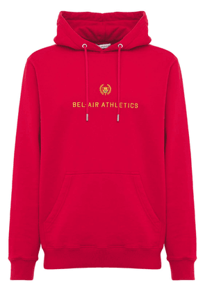 Cotton Hoodie W/big Embroidered Logo