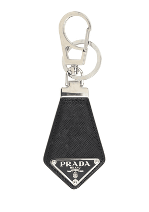 Logo Saffiano Leather Key Chain