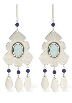 Adamama Pendant Earrings W/ Stone
