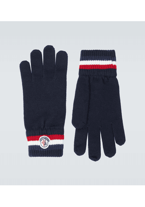 Wool ribbed gloves