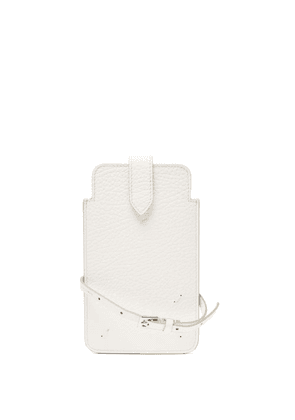 Maison Margiela - Four-stitches Grained-leather Phone Pouch - Womens - White