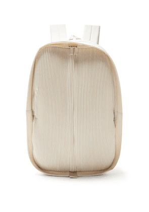 Homme Plissé Issey Miyake - Technical-pleated Jersey Backpack - Mens - White