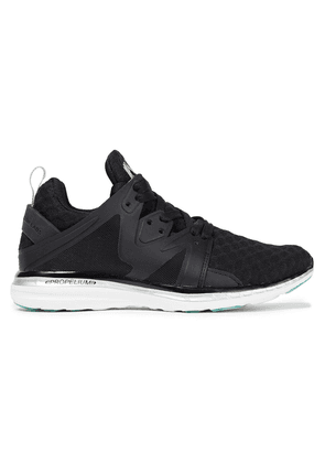Apl® Athletic Propulsion Labs Ascend Mesh And Rubber Sneakers Woman Black Size 5