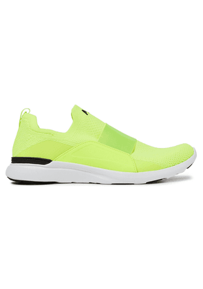 Apl® Athletic Propulsion Labs Bliss Neon Mesh And Neoprene Slip-on Sneakers Woman Bright yellow Size 5