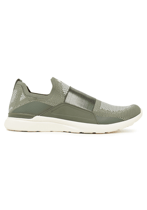 Apl® Athletic Propulsion Labs Bliss Mesh And Neoprene Slip-on Sneakers Woman Army green Size 5.5