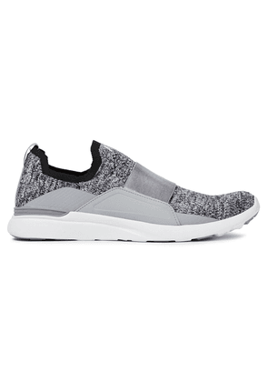Apl® Athletic Propulsion Labs Techloom Bliss Mélange Stretch-knit Sneakers Woman Charcoal Size 5