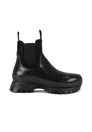 Loeffler Randall Tara Weather Boot in Black. Size 7, 8, 9.