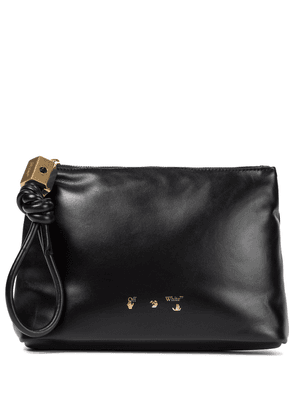 Slider leather pouch