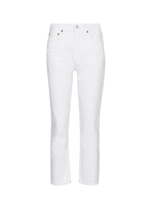 Riley high-rise straight jeans