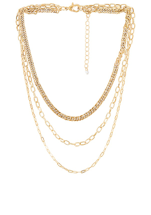 8 Other Reasons Delmar Lariat Necklace in Metallic Gold.