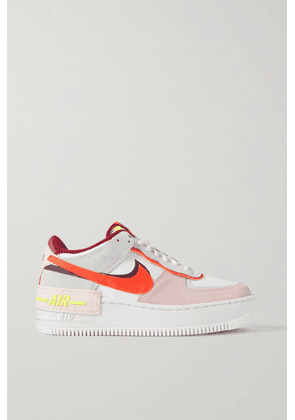 Nike - Air Force 1 Shadow Suede And Leather Sneakers - White