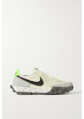 Nike - Waffle Racer Crater Leather And Suede-trimmed Shell Sneakers - Beige