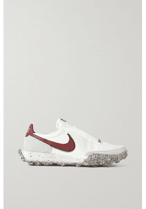 Nike - Waffle Racer Crater Leather And Suede-trimmed Shell Sneakers - White
