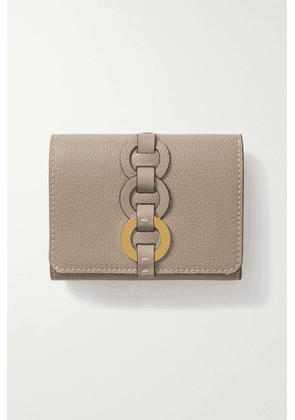 Chloé - Darryl Textured-leather Wallet - Gray