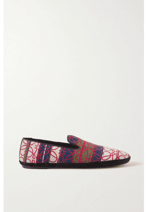 Loewe - Anagram Logo-embroidered Canvas-jacquard Loafers