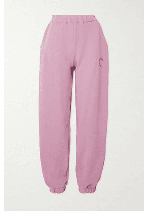 The Attico - Peggy Printed Cotton-jersey Track Pants - Lilac