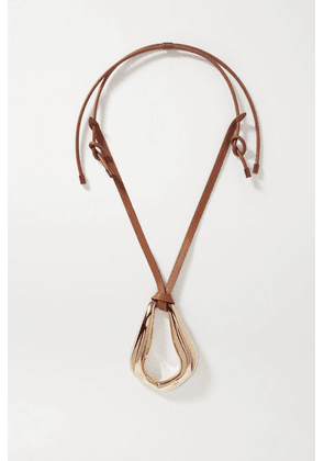Chloé - Trudie Kiss Oversized Gold-tone And Leather Necklace