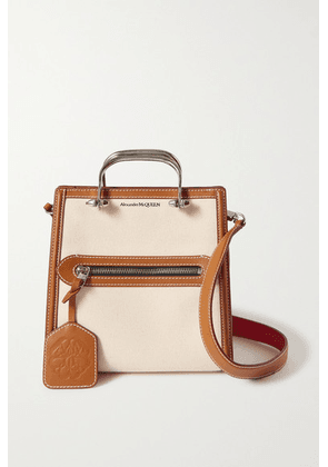 Alexander McQueen - The Short Story Leather-trimmed Canvas Tote - Tan