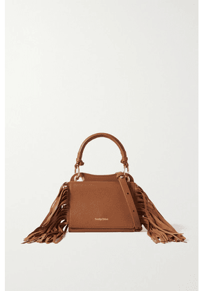 See By Chloé - Tilda Fringed Textured-leather Tote - Tan