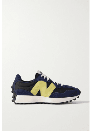 New Balance - 327 Suede And Canvas Sneakers - Navy