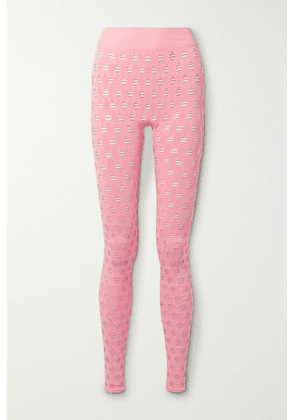 Maisie Wilen - Perforated Stretch-jersey Leggings - Pink