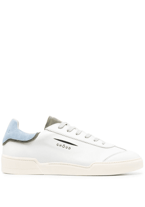 Ghoud panelled leather sneakers - White