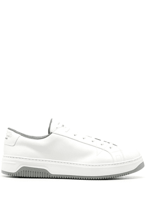 Car Shoe panelled leather sneakers - White