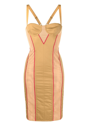 Burberry quilted technical corset dress - Neutrals