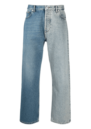 Valentino panelled straight-leg jeans - Blue