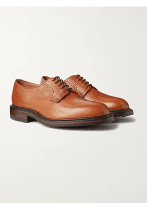 GEORGE CLEVERLEY - Archie II Cross-Grain Leather Derby Shoes - Men - Brown - UK 7
