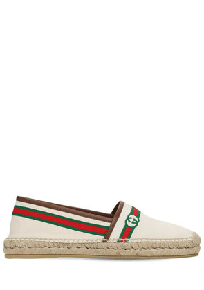 10mm Embroidered Canvas Espadrilles