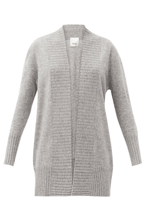 Allude - Open-front Wool-blend Cardigan - Womens - Grey