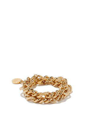 By Alona - Lana Double-chain 18kt Gold-plated Bracelet - Womens - Yellow Gold