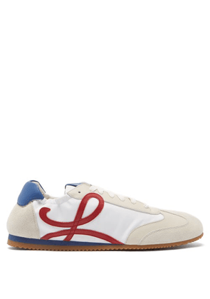 Loewe - Ballet Runner Nylon And Leather Trainers - Mens - White Multi