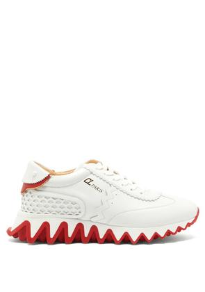 Christian Louboutin - Loubishark Leather Trainers - Womens - White