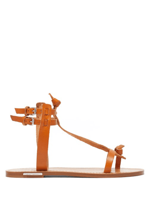 Isabel Marant - Jint T-bar Leather Sandals - Womens - Tan
