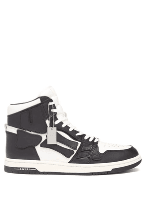 Amiri - Skel Top High-top Leather Trainers - Mens - Black White