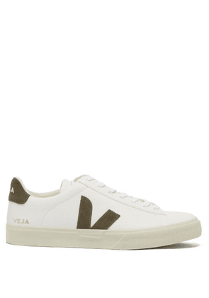 Veja - Campo Suede-trimmed Leather Trainers - Mens - Khaki White