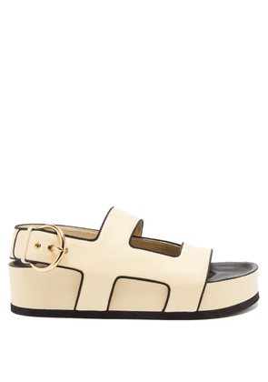 Neous - Cher Leather Platform Sandals - Womens - Cream