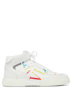 Valentino Garavani - Vltn High-top Leather Trainers - Mens - White Multi