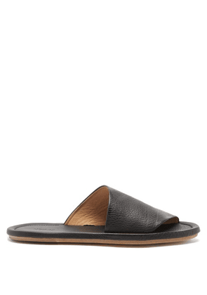 Marsèll - Cornice Grained-leather Slides - Mens - Black