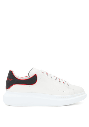 Alexander Mcqueen - Raised-sole Low-top Leather Trainers - Mens - White