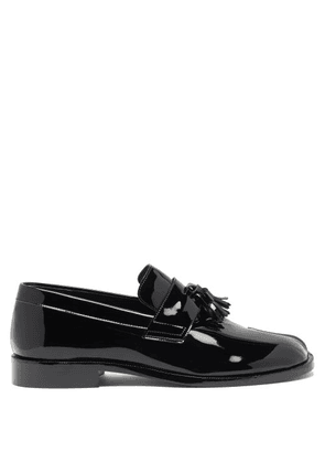Maison Margiela - Tabi Split-toe Patent-leather Loafers - Mens - Black